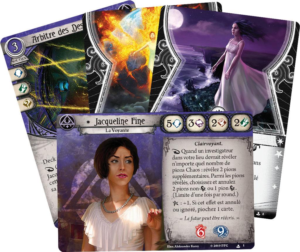 Fantasy Flight Games - Jacqueline Fine, Mystique (Deck Investigateur)